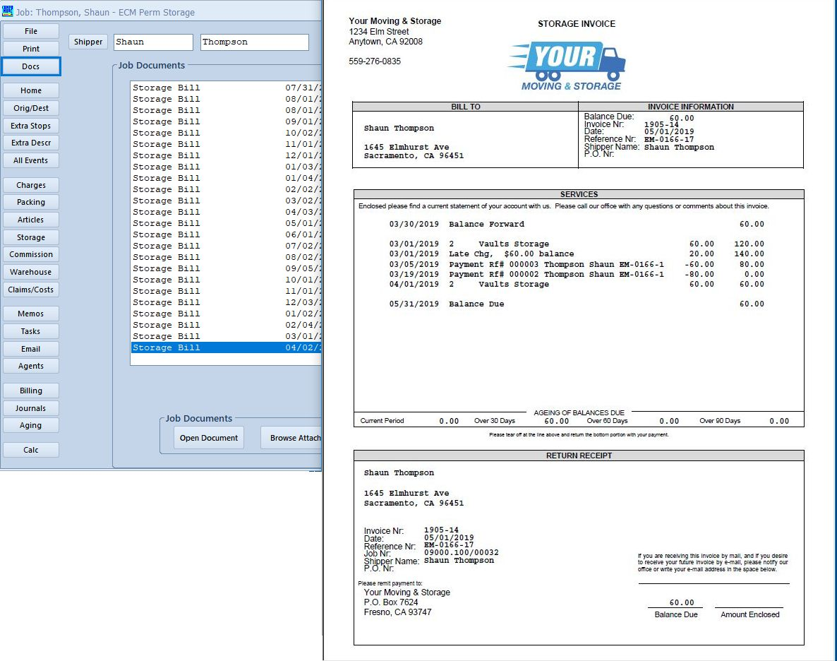 Invoice History & Logs